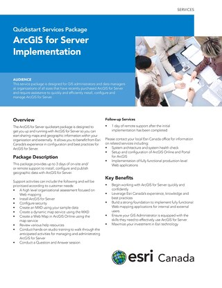 ArcGIS for Server Implementation - Quickstart Services Package