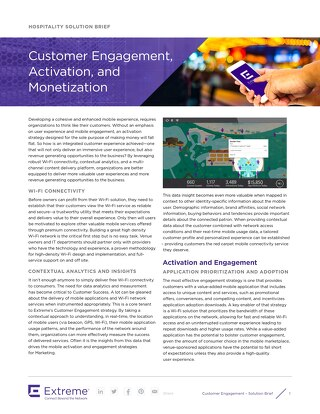 Hospitality Customer Engagement, Activation, and Monetization