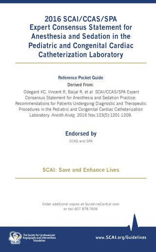Anesthesia and Sedation in the Pediatric and Congenital Cardiac Catheterization Laboratory
