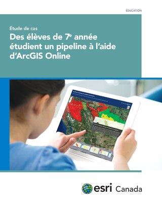 Des élèves de 7e  année étudient un pipeline à l'aide d'ArcGIS Online