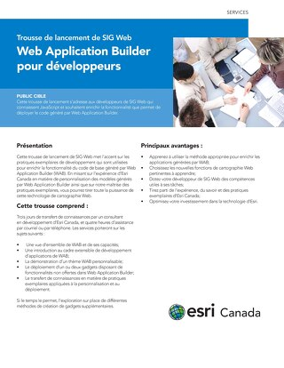 Trousse de lancement de SIG web - Web Application Builder pour développeurs