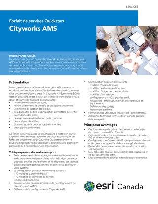 Forfait de services Quickstart - Cityworks AMS