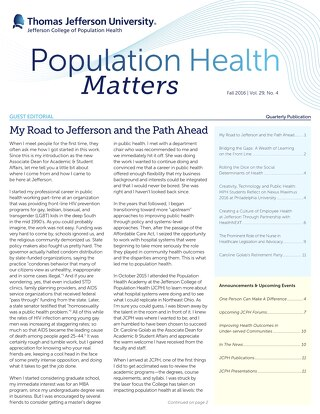 Population Health Matters Fall 2016