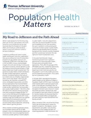 Population Health Matters Fall 2016