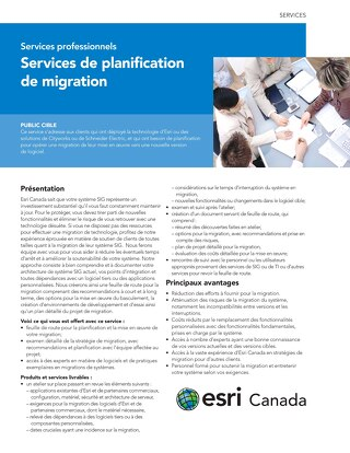 Services de planification de migration