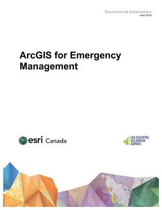 ArcGIS for Emergency Management