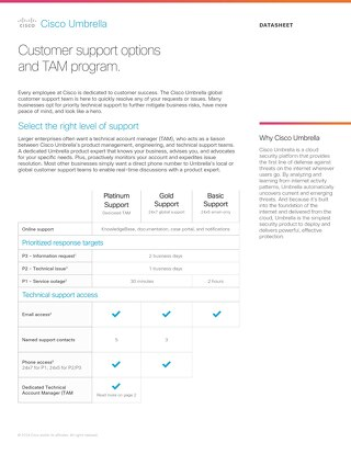 Cisco Umbrella Customer Support Options