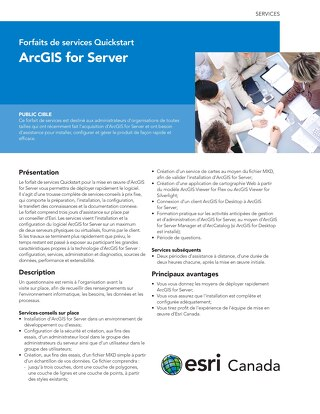 Forfait de services Quickstart - ArcGIS for Server