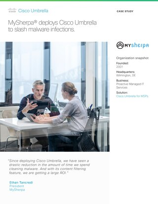 MySherpa deploys Cisco Umbrella to slash malware infections.