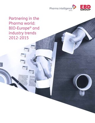 Partnering in the Pharma World: BIO-Europe® and industry trends 2012-2015