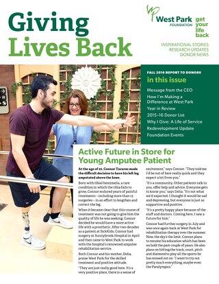 Getting Lives Back Newsletter - Fall 2016
