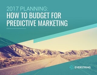 2017 Planning: How to Budget for Predictive Marketing