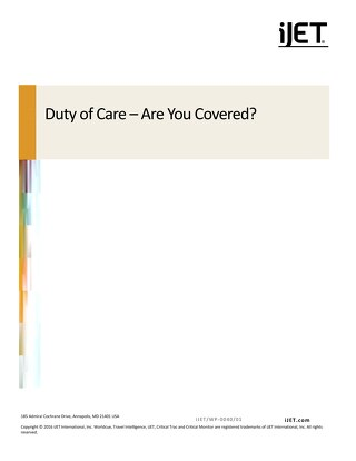 Duty of Care - Are You Covered?
