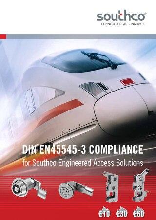 DIN EN45545-3 Compliance for Access Hardware