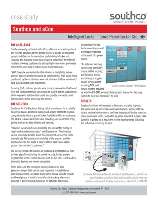 aCon & Southco: Intelligent Locks Improve Parcel Locker Security