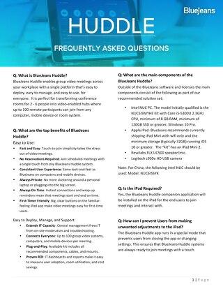 Huddle FAQ