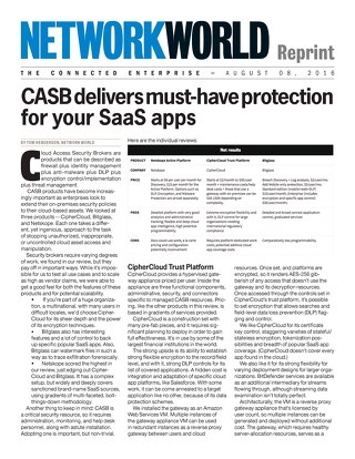 Network World - CASB Delivers Must-Have Protection for Your SaaS Apps