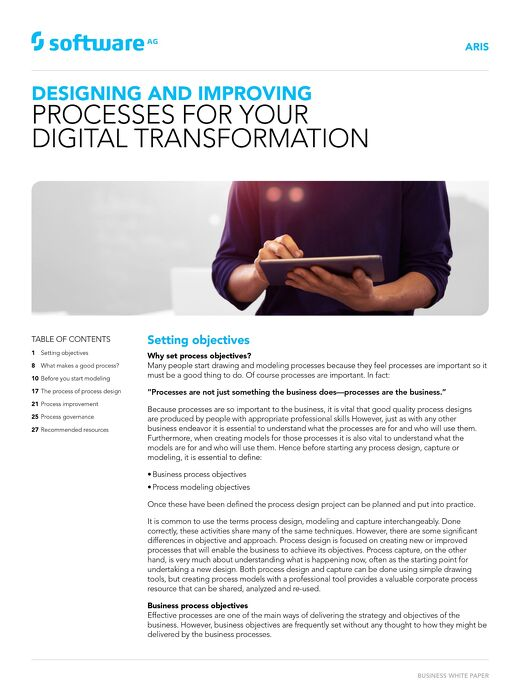 Design & improve processes for digital transformation