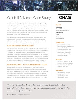 Oak Hill Advisors Case Study