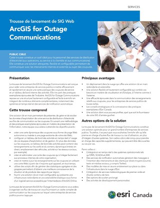 ArcGIS for Outage Communications
