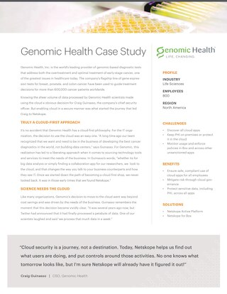 Genomic Health Case Study