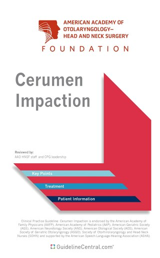 Cerumen Impaction Pocket Guideline