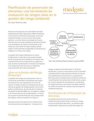 Planificación de prevención de derrames: una herramienta de evaluación de riesgos clave en la gestión del riesgo ambiental