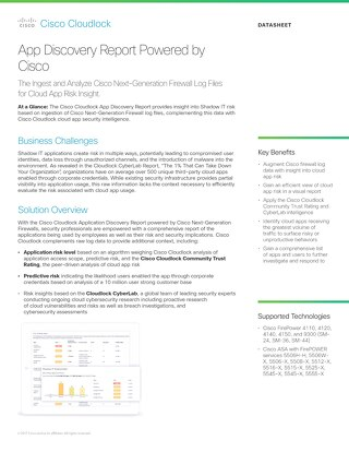App Discovery Report Powered by Cisco