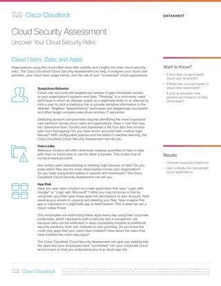 Cisco Cloudlock Automated Assessment