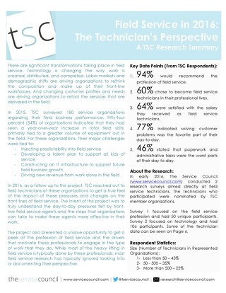 Field Service - The Technician's Perspective