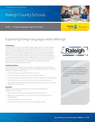 [Case Study] Raleigh County Schools