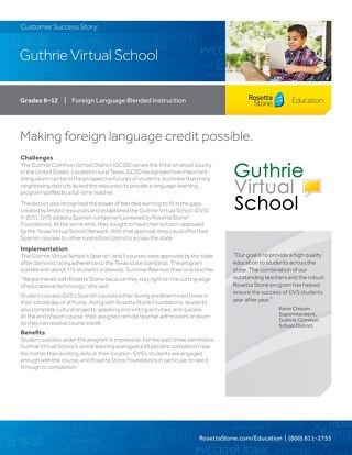[Case Study] Guthrie Virtual School