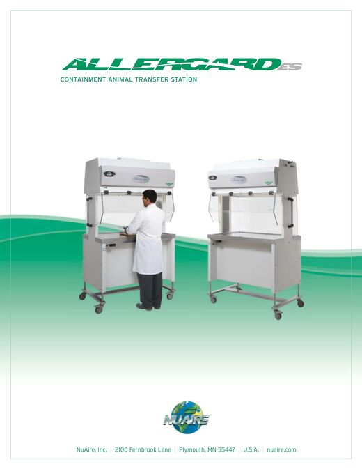 [Brochure] AllerGard NU-620 Animal Transfer Station