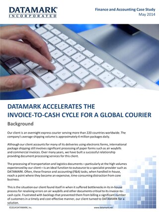 DATAMARK Accelerates the Invoice-to-Cash Cycle for a Global Courier