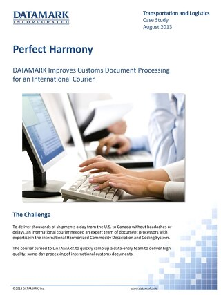 Improving Customs Document Processing for an International Courier