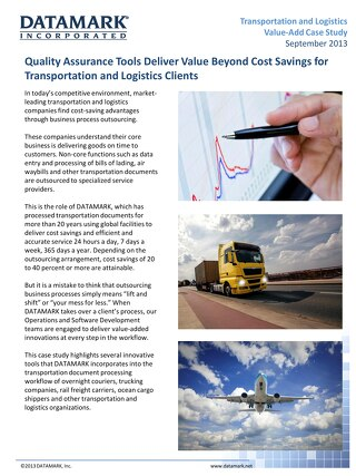 Transportation and Logistics Value-Add Case Study