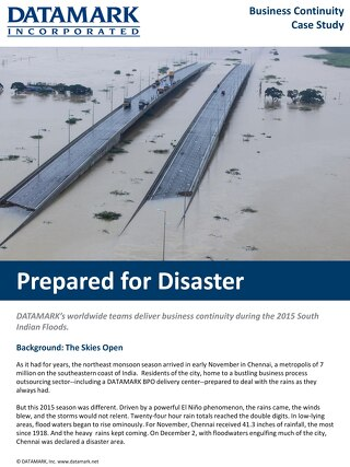 Case Study: Prepared for Disaster