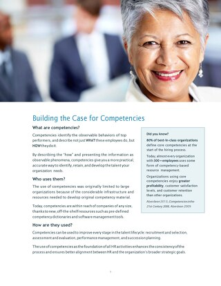 Building the case for competencies