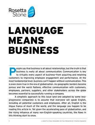 Language Means Business
