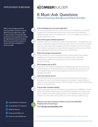 6 Essential Questions for Your Background Check Provider
