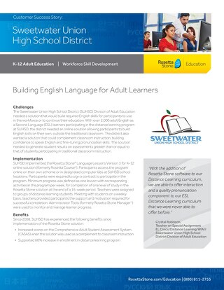 [Case Study] Sweetwater Union High School District