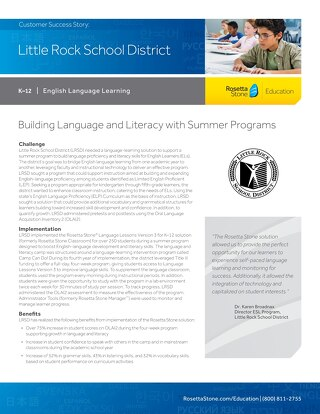[Case Study] Little Rock School District