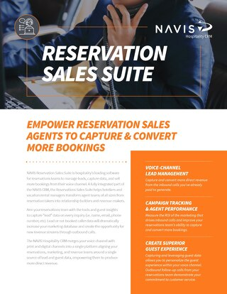 Reservation Sales Suite Data Sheet