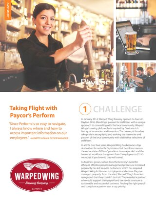 Case Study: Warped Wing Brewery