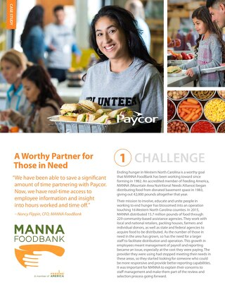 Case Study: MANNA FoodBank