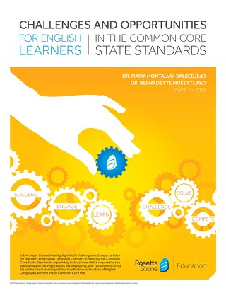 Challenges and Opportunities for English Learners in the Common Core State Standards