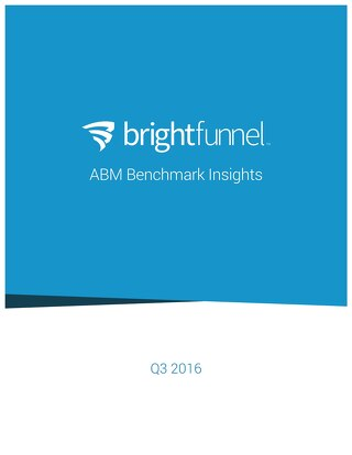 ABM Benchmark Insights Report Q3 2016