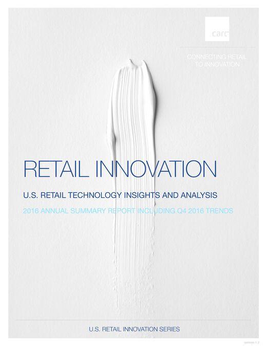 CART Advancing Retail Innovation Report 2016