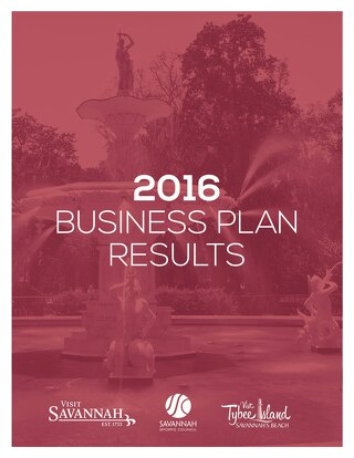2016 Visit Savannah Business Plan Results