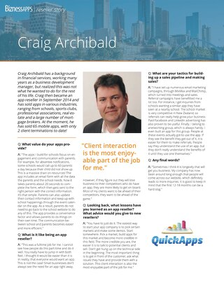 Reseller Success Story - Craig Archibald